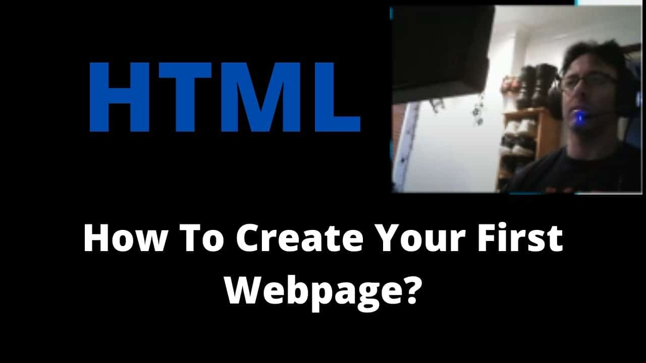 How To Create Your First Webpage   HTML Tutorial