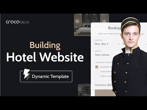 How to create a Hotel Booking WordPress website with Elementor & Crocoblock Dynamic Templates