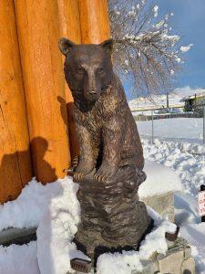 princeton bronze statue bear