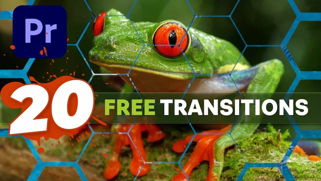 20 FREE TRANSITION matte overlays + Premiere Pro tutorial