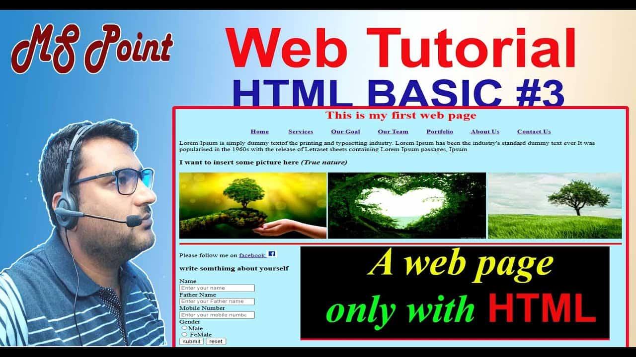Build a website #Basic HTML #3