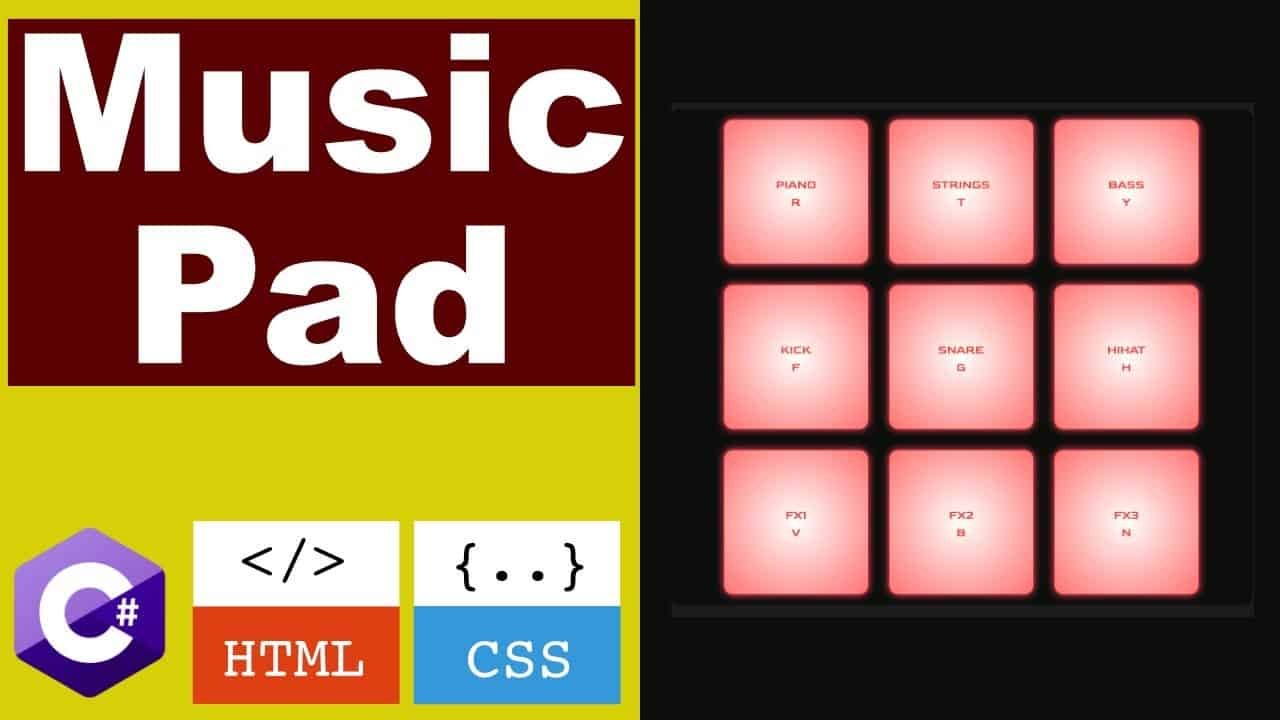 Build your own Music Pad with C#, HTML, and CSS - Blazor WebAssembly tutorial