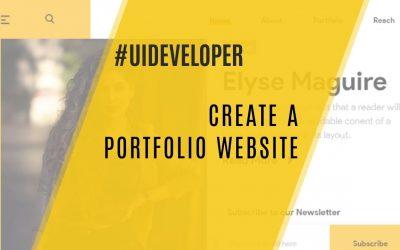 Do It Yourself – Tutorials – Create a portfolio Website | UI/Angular 9/HTML5/CSS3/Bootstrap