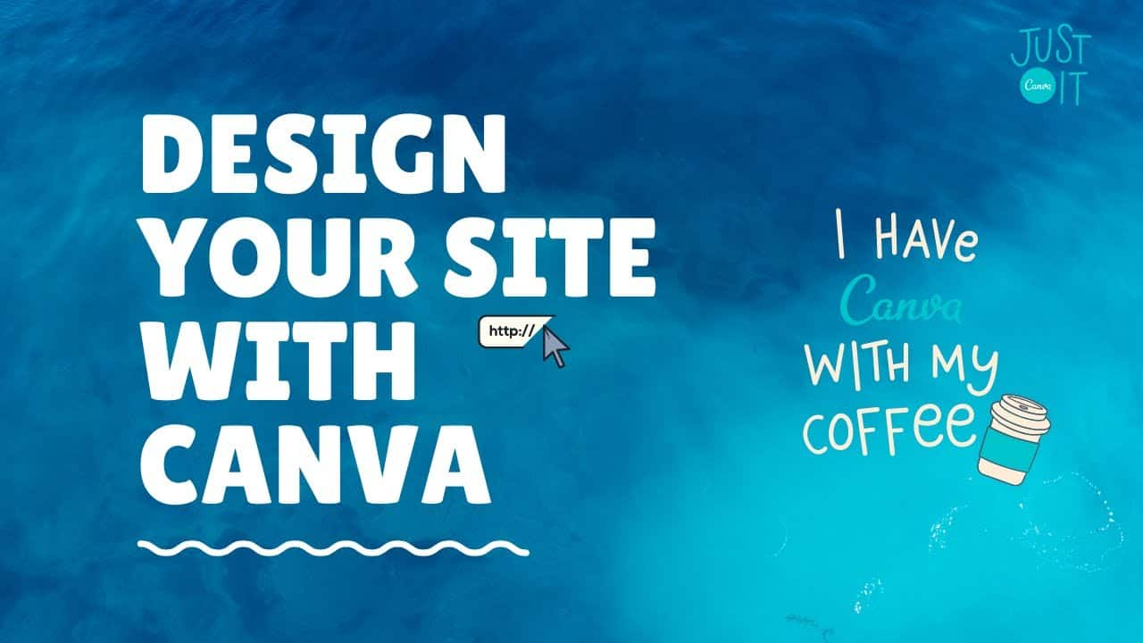 Create a site with Canva easily, Portfolio site only