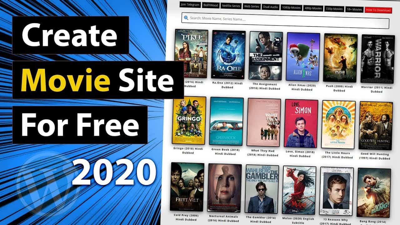Create your own Movie Website - Full Tutorial 2020