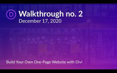 Do It Yourself – Tutorials – Divi Brampton Meetup | Build a One-Page Website with the Divi WordPress Theme | Christina Gwira