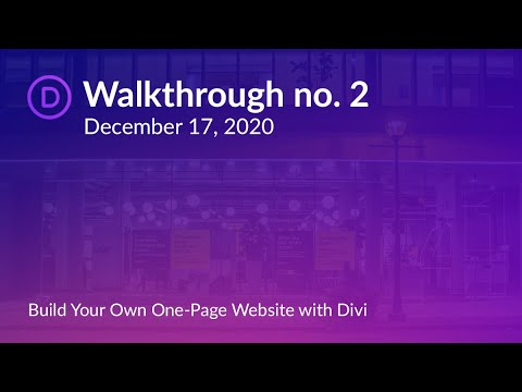 Divi Brampton Meetup | Build a One-Page Website with the Divi WordPress Theme | Christina Gwira
