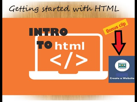 HTML TUTORIAL: Introduction to html + create our first webpage
