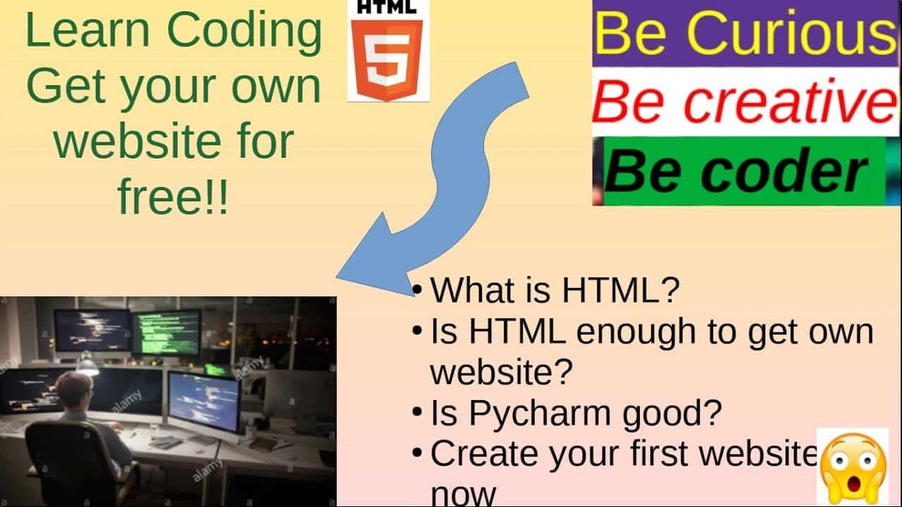 HTML Tutorials:  Ep-01| Learn to make your own website! | Journey to became professional coder|