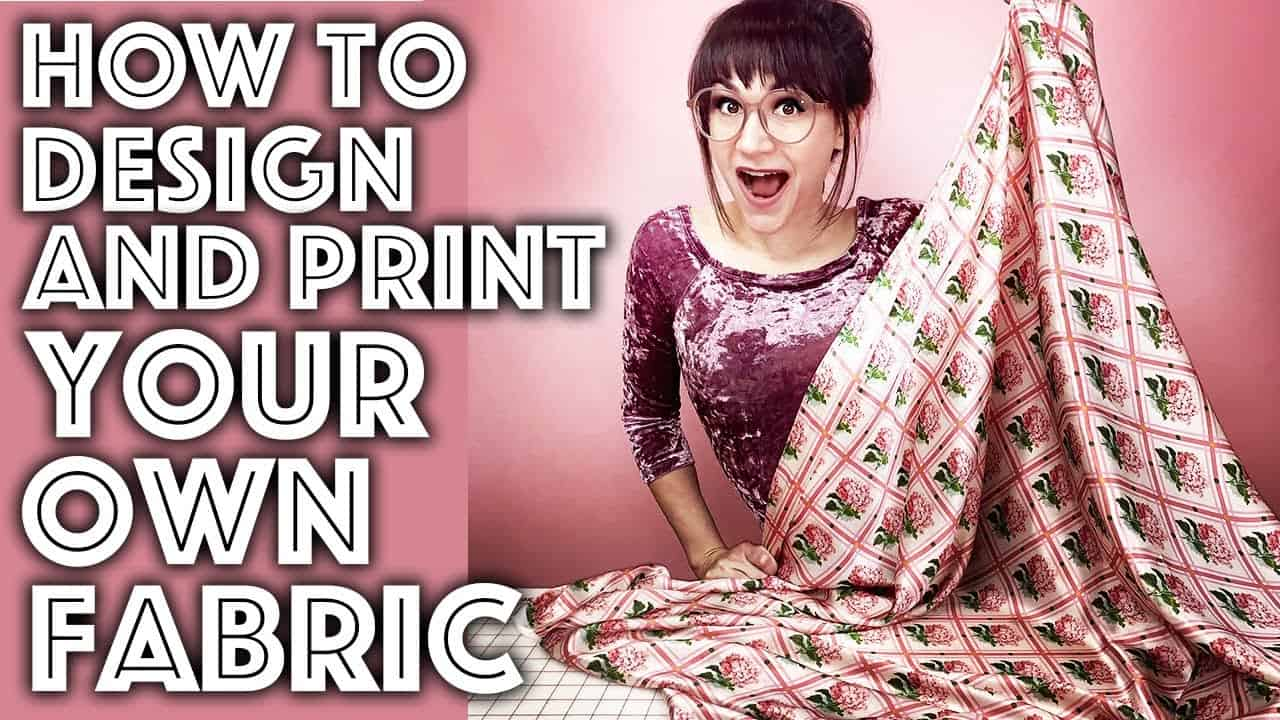 How to Design and Print Your Own Fabric Step by Step Tutorial | Sew Anastasia