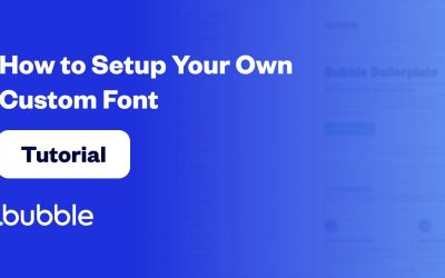 Do It Yourself – Tutorials – How to Setup Your Own Custom Font | Bubble Tutorial