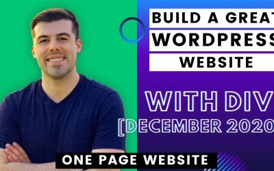 Do It Yourself – Tutorials – Make a One Page Website or Home Page with Divi – Dec 2020