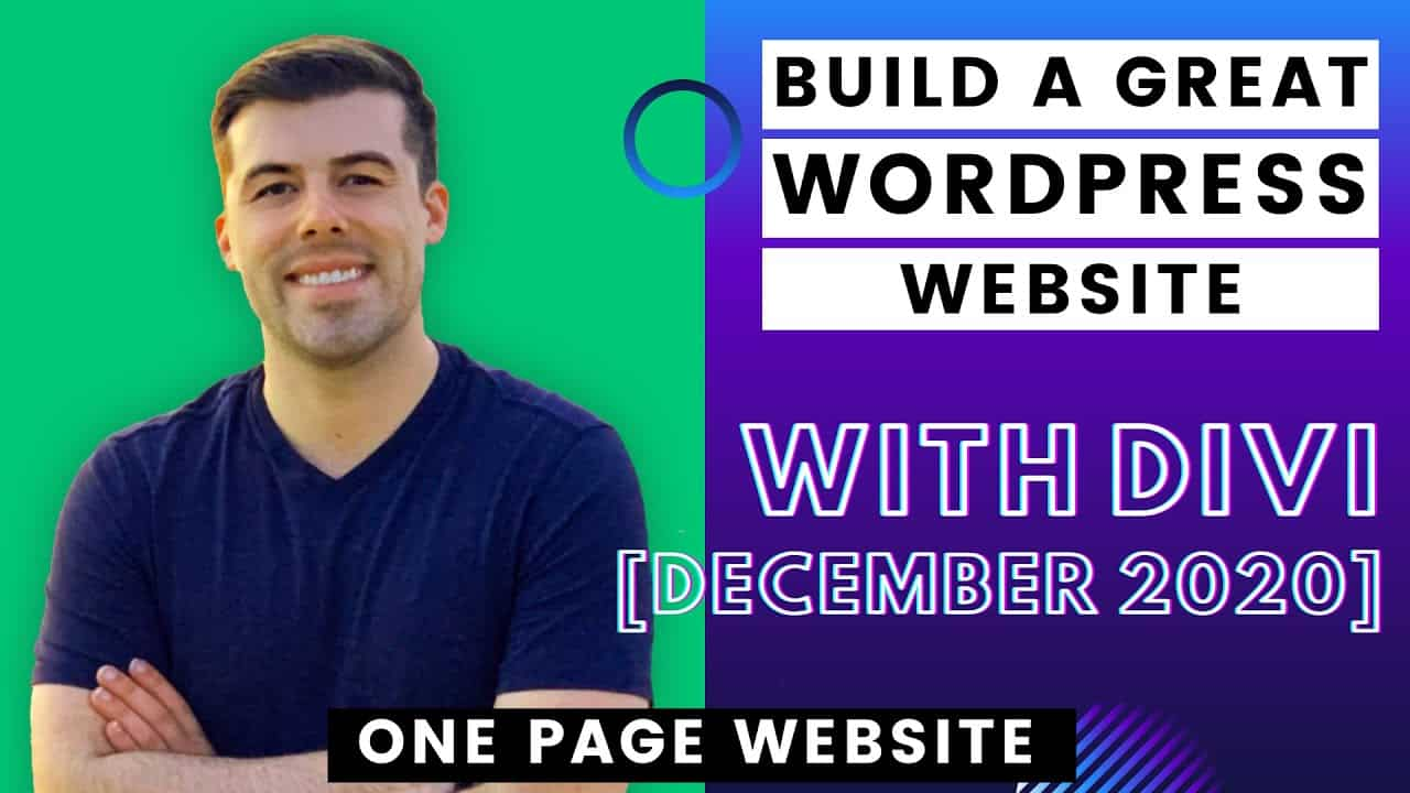 Make a One Page Website or Home Page with Divi - Dec 2020