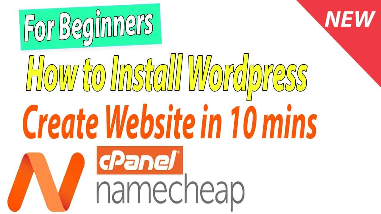 [New] How to install Wordpress and Create Website on Namecheap cpanel hosting