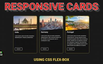 Do It Yourself – Tutorials – Responsive Cards Using Flex Box || Pure HTML and CSS Tutorial || WDU