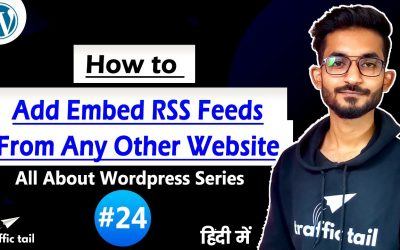 WordPress For Beginners – #24 How to Add RSS feed in WordPress Website in Hindi Through Plugin   WordPress tutorial 2021
