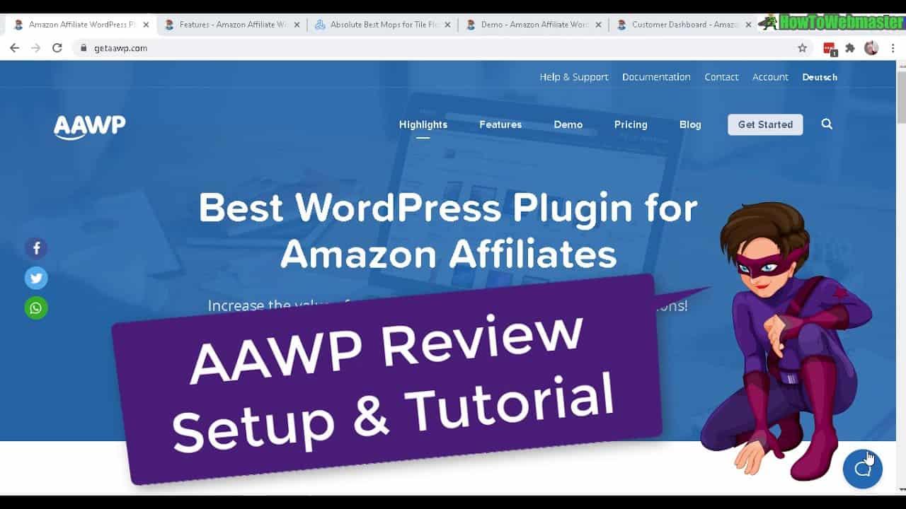 Amazon Affiliate For Wordpress AAWP Plugin Review & Setup Tutorial PART 1