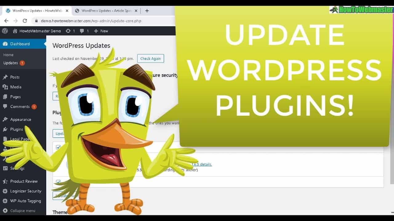 How to Update/Upgrade Wordpress Plugins to Newer Versions Inside WP-Admin EASY Tutorial!