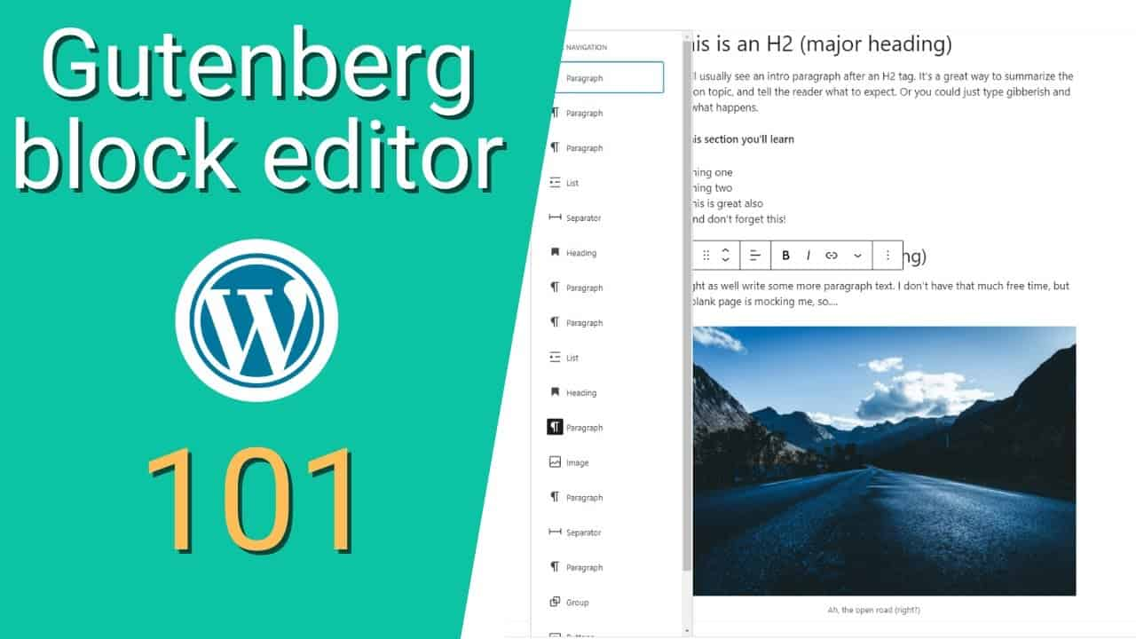 How to use the Wordpress Gutenberg Block Editor (full tutorial)