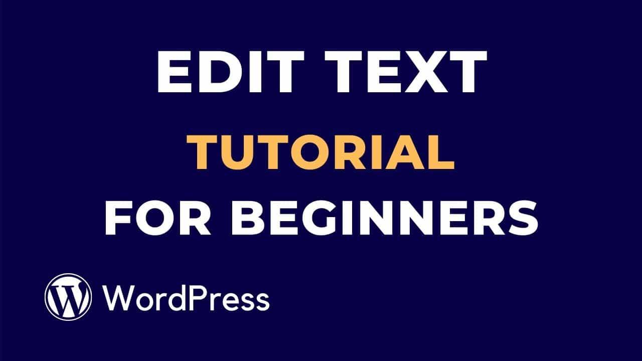 WordPress Edit text Tutorial for Beginners   part-3   WP Studio