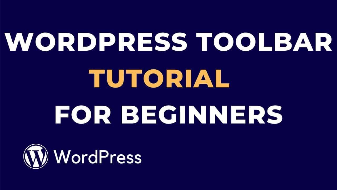 WordPress Toolbar Tutorial for Beginners | part-2 | WP Studio