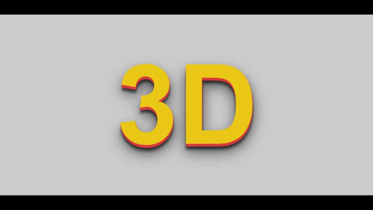 3D text design using only HTML & CSS for beginner