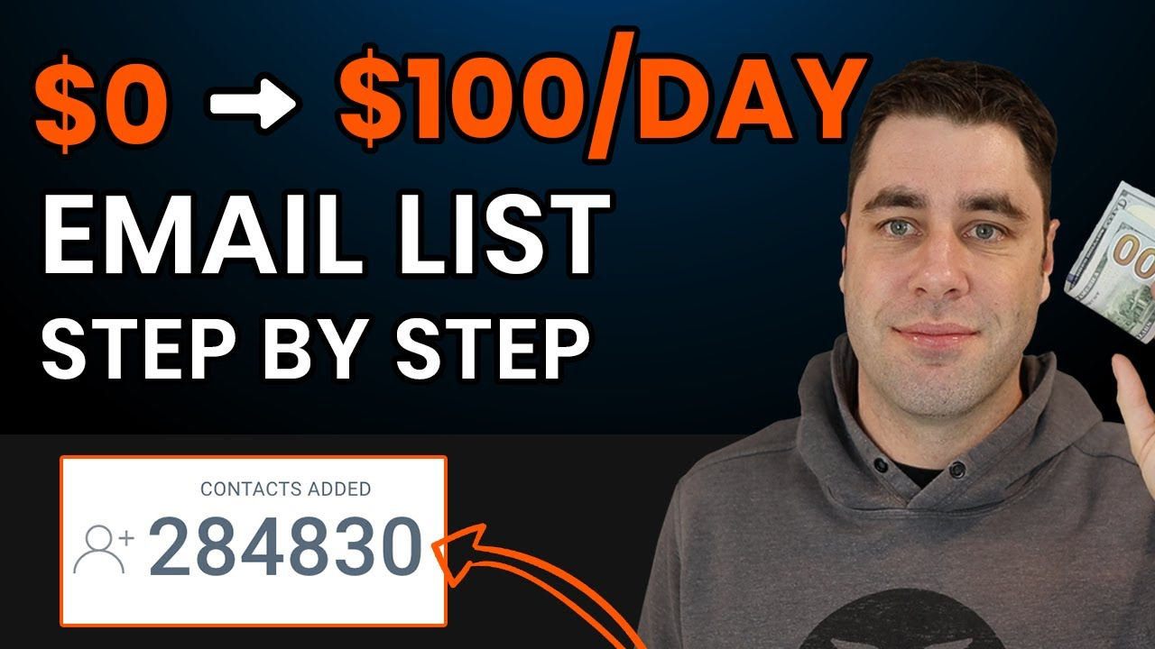 How To Build A $100/Day Affiliate Marketing Email List FREE! (Step by Step)