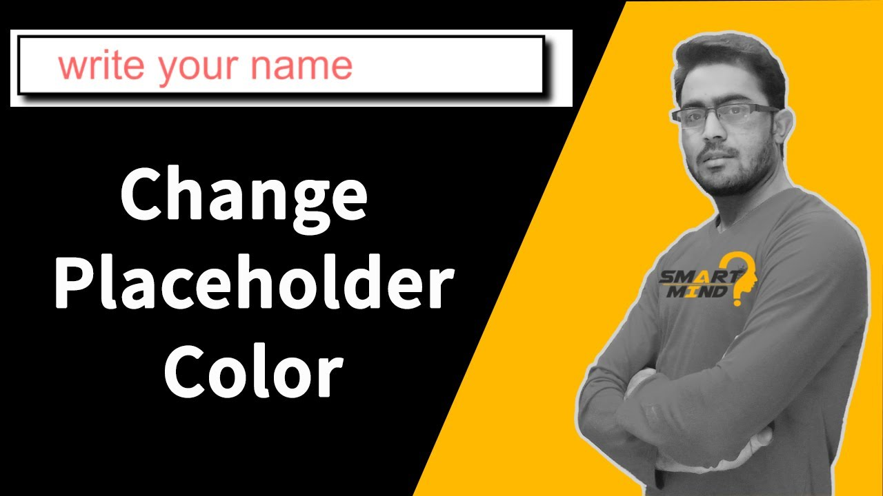 How to change placeholder color in css | input placeholder color change | placehoder color change