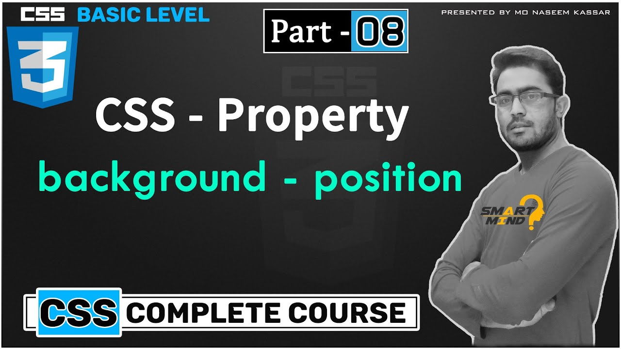 08. Background position property in css for beginners in hindi by smart mind part - 8