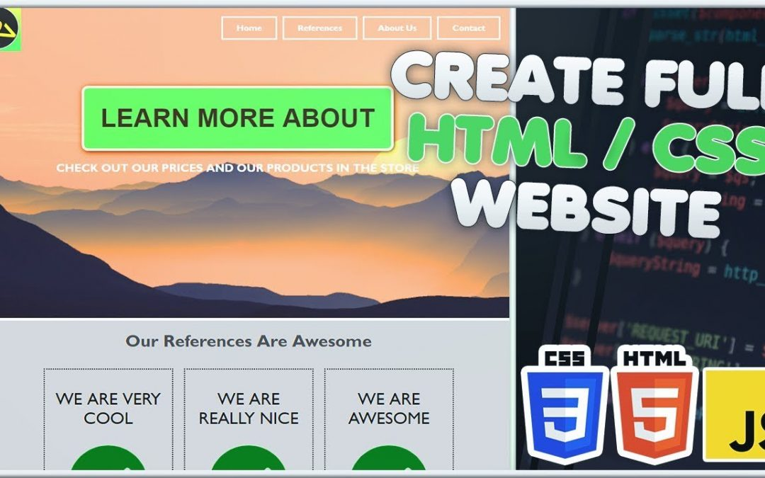 Create FULL HTML CSS WEBSITE in 30 Minutes | Build repsonsive Website HTML CSS Tutorial