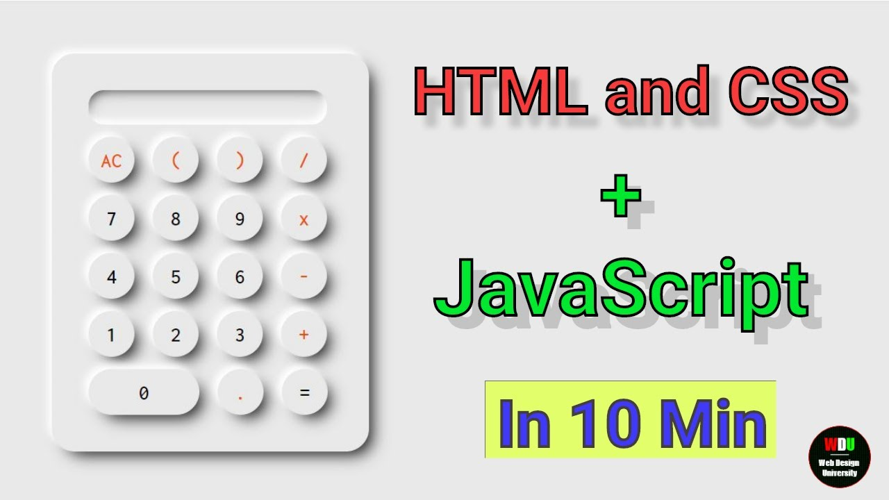 How to Build A Calculator using JavaScript |  Web Design University - WDU