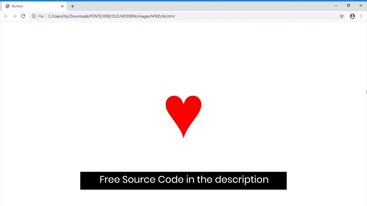 Heart Beat Animation using HTML, CSS only(with free source code)