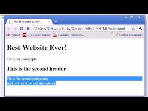 XHTML and CSS Tutorial – 4 – Paragraphs and Line Breaks