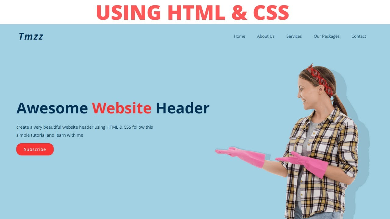 How to make a beautiful website using HTML and CSS step by step tutorial