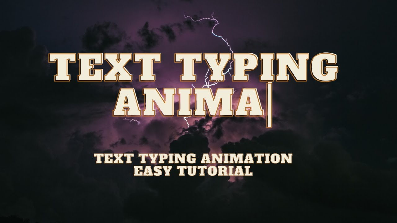 Auto Text Typing Animation Effect Using HTML CSS And JavaScript | Auto Typing Text Animation CSS