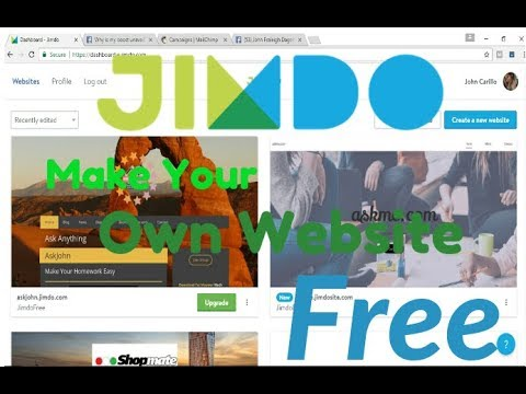 How to Make Your Own Website FREE Tutorial -- Jimdo Website Builder