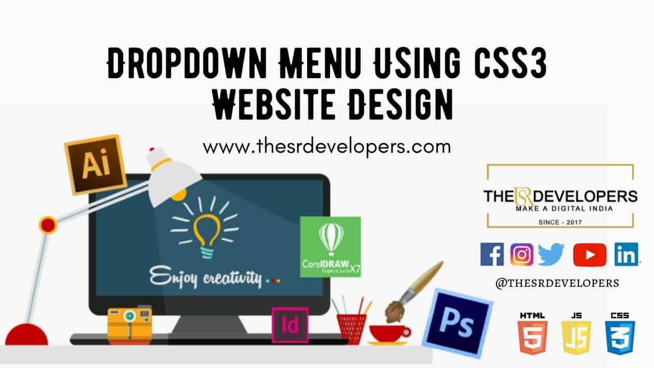 Dropdown Menu Using css3  #Websitedesign #thesrdevelopers #webdesign #webdevelopement #css #HTML