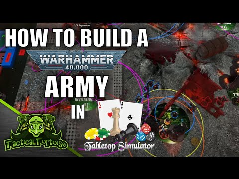 Auras On Your TTS Models - How to Build a TTS 40k Army Using Battlescribe2TTS - New Player Tutorial