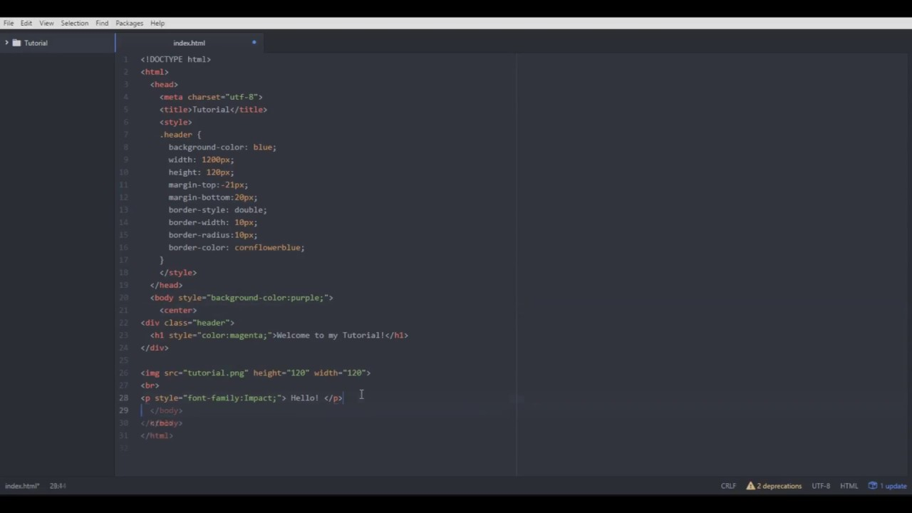 Basic HTML & CSS Tutorial [HOW TO MAKE YOUR OWN WEBSITE]