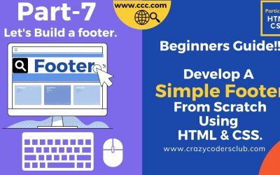 Do It Yourself – Tutorials – Build A Simple Footer Using HTML | CSS |Step By Step Tutorial