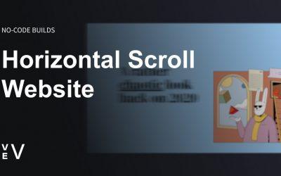 Do It Yourself – Tutorials – Build a Horizontal Scroll Website   Vev No Code Builds