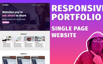 Do It Yourself – Tutorials – Build a Responsive SPA Website using HTML & CSS ~ Portfolio Page Tutorial