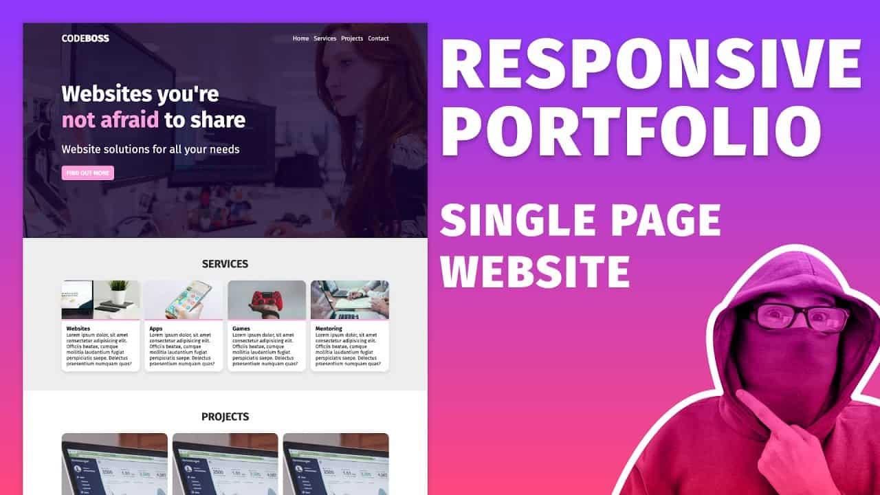 Build a Responsive SPA Website using HTML & CSS ~ Portfolio Page Tutorial