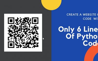 Do It Yourself – Tutorials – Create A website QR Code with Only 6 Lines of Python Code   Using Pycharm   2021
