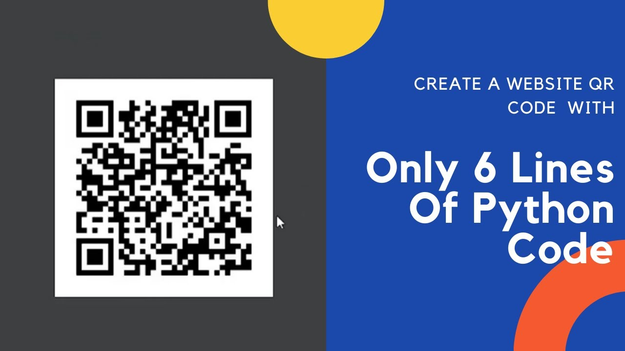 Create A website QR Code with Only 6 Lines of Python Code | Using Pycharm | 2021