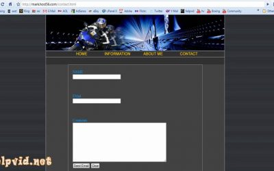 Do It Yourself – Tutorials – Create a Contact Form / Page for your website,  PHP Script Dreamweaver Tutorial