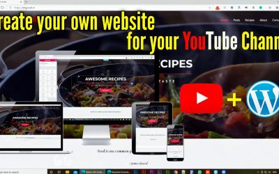 Do It Yourself – Tutorials – Create a Website For your YouTube Channel without a designer   WordPress tutorial   Cheep Website