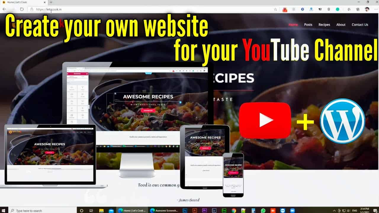 Create a Website For your YouTube Channel without a designer | WordPress tutorial | Cheep Website