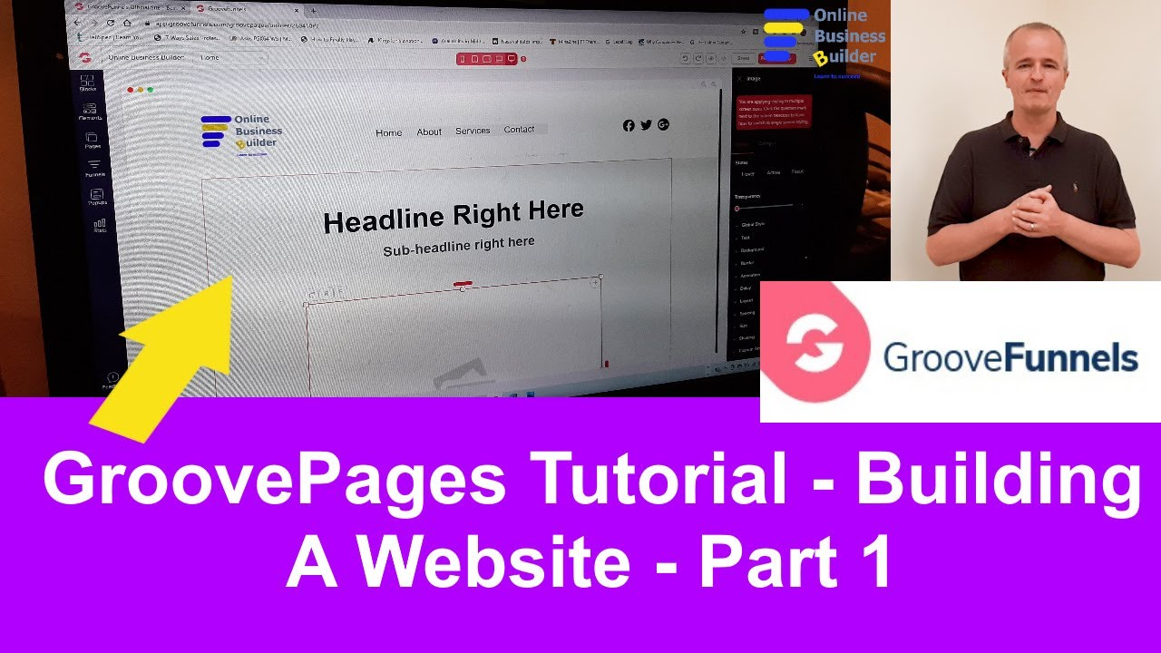 GroovePages Tutorial Part 1: How to build a free website using GroovePages. Make Money Online