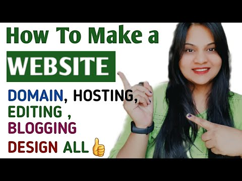 HOW TO MAKE YOUR OWN WEBSITE | Simple and easy Step to step guide for beginners| HINDI Tutorial 2021